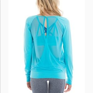 LOLE orchid teal yoga top